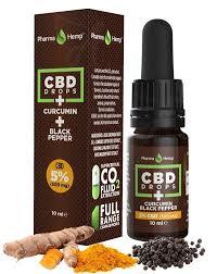 PharmaHemp 5% CBD Drops with Curcumin, Full Spectrum, 10 ml