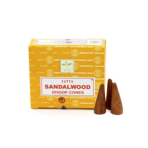 Αρωματικοί Κώνοι Satya Sandalwood - Σανταλόξυλο