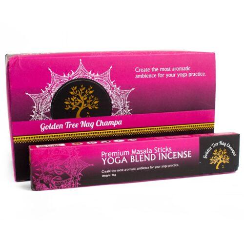 Αρωματικά Στικ Golden Tree Nag Champa Yoga Blend - Γιόγκα 15γρ