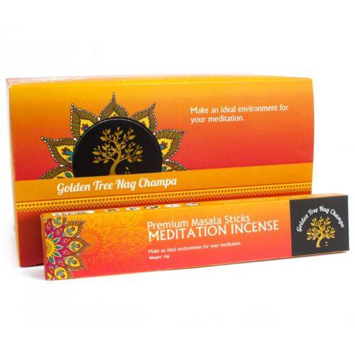 Αρωματικά Στικ Golden Tree Nag Champa Meditation - Διαλογισμός 15γρ