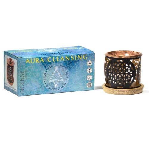 Καυστήρας Αρωματικών Κύβων Aromafume Aura Cleansing Set