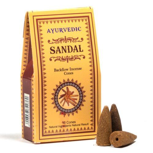 Κώνοι Backflow Ayurvedic Sandal - Σανταλόξυλο