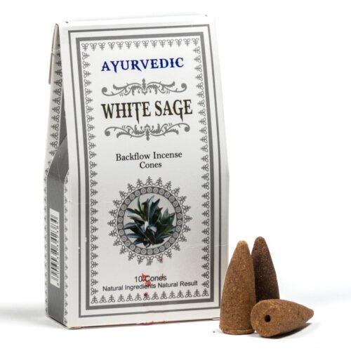 Κώνοι Backflow Ayurvedic White Sage - Λευκό Φασκόμηλο