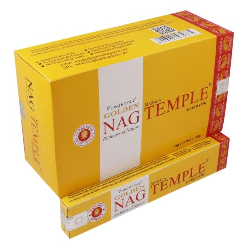 Αρωματικά Στικ Golden Nag Temple - Ναός 15γρ