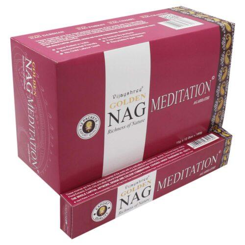 Αρωματικά Στικ Golden Nag Meditation - Διαλογισμός 15γρ