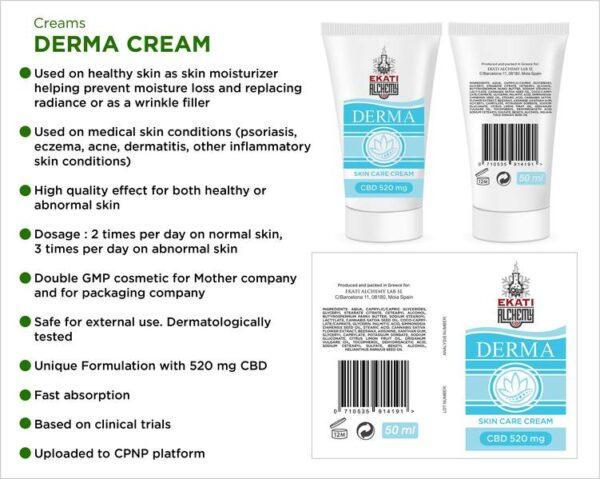 Derma Κρέμα CBD Περιποίησης Δέρματος - Ekati Alchemy Lab