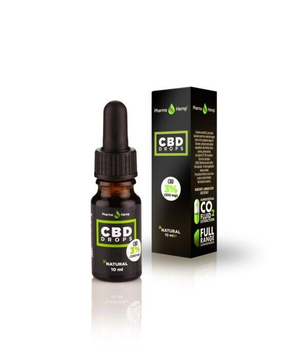 Pharmahemp 3% CBD Full Spectrum Hemp Seed Oil 10 ml