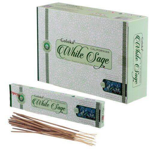Αρωματικά Στικ Goloka White Sage - Λευκό Φασκόμηλο 15γρ