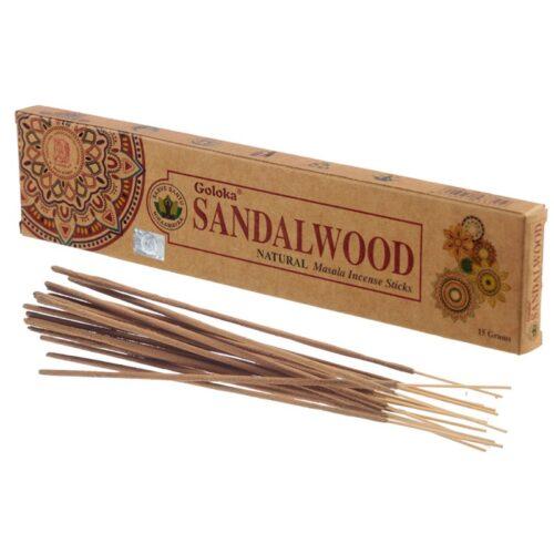 Αρωματικά Στικ Goloka Sandalwood - Σανταλόξυλο 15γρ