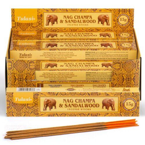 Αρωματικά Στικ Tulasi Nag Champa & Σανταλόξυλο 15γρ