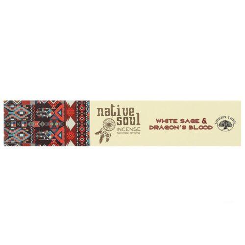 Αρωματικά Στικ Native Soul White Sage & Dragons Blood - Λευκό Φασκόμηλο & Αίμα Του Δράκου 15γρ