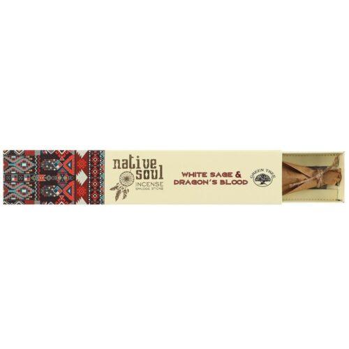 Native Soul White Sage & Dragons Blood Incense Sticks
