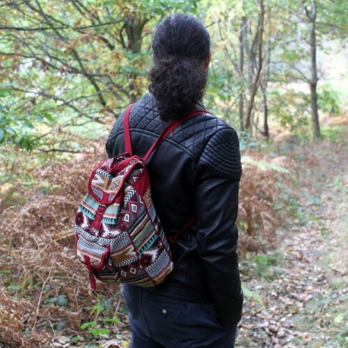 Jacquard Bag - Chocolate Backpack