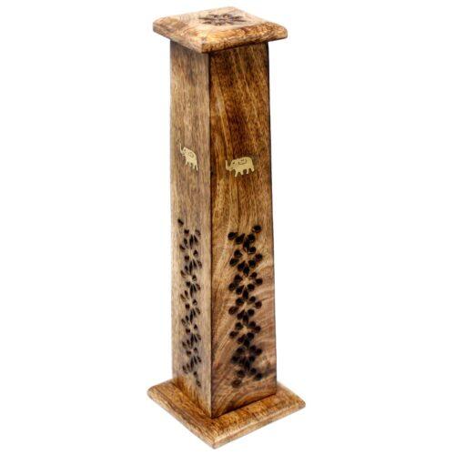 Βάση Αρωματικών Στικ & Κώνων Πύργος Tapered Mango Wood