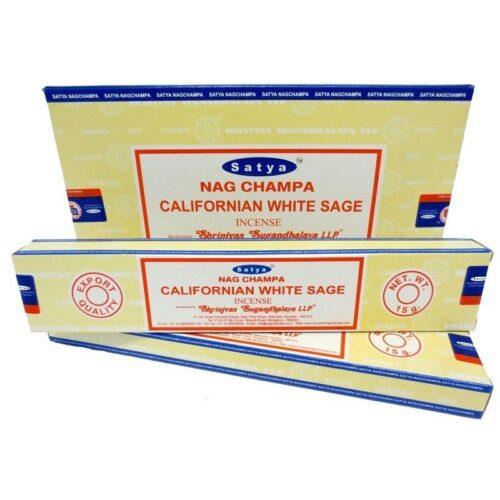 Αρωματικά Στικ Satya Californian White Sage - Λευκό Φασκόμηλο 15γρ