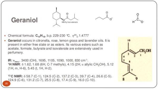 Γερανιόλη (Geraniol) - Terpenes UK
