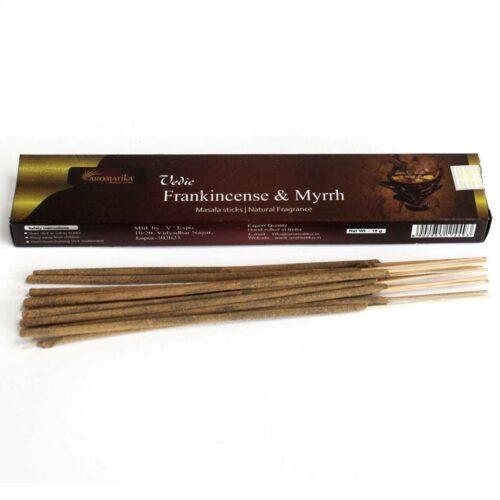 Αρωματικά Στικ Aromatika Frankincense & Myrrh - Λιβάνι & Μύρο 15γρ
