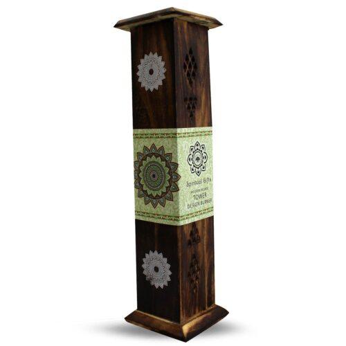 Βάση Αρωματικών Στικ & Κώνων Πύργος Green Tree Mandala