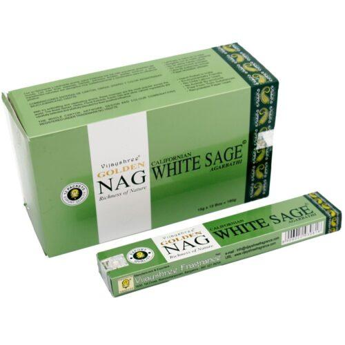Αρωματικά Στικ Golden Nag White Sage - Λευκό Φασκόμηλο 15γρ