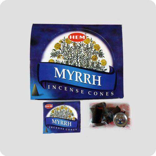Αρωματικοί Κώνοι HEM Myrrh - Μύρο