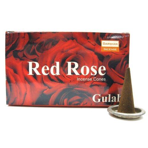 Αρωματικοί Κώνοι Darshan Red Rose - Τριαντάφυλλο