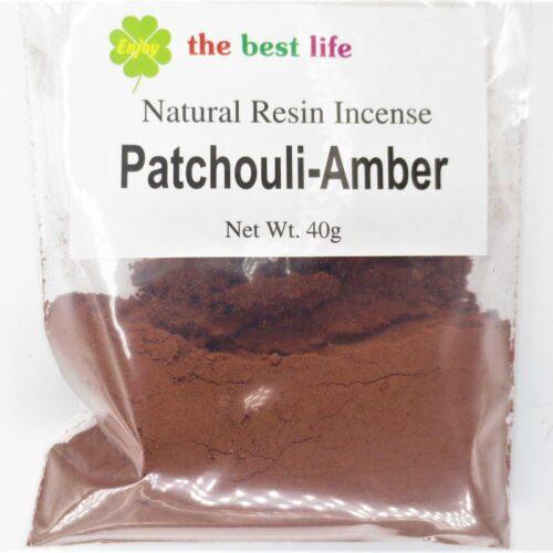 Αρωματική Σκόνη Patchouli Amber - Πατσουλί Κεχριμπάρι 40γρ