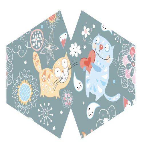 Μάσκα Προστασίας Προσώπου Happy Cats - Παιδιά