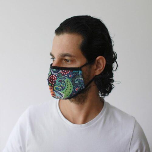 Μάσκα Προστασίας Προσώπου Funky Swirls - Ενήλικες