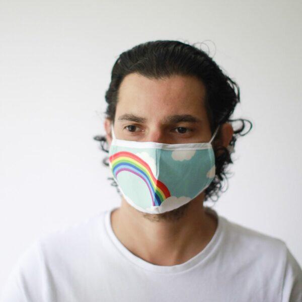 Μάσκα Προστασίας Προσώπου Rainbow - Παιδιά