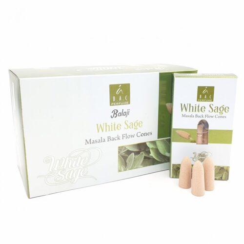 Κώνοι Backflow Balaji White Sage - Λευκό Φασκόμηλο