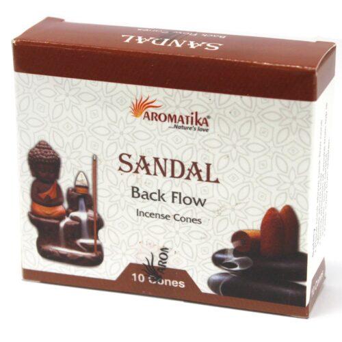 Sandalwood Backflow Cones - Aromatika