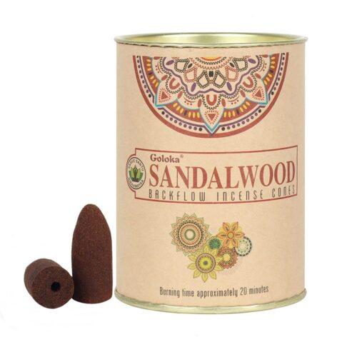 Κώνοι Backflow Goloka Sandalwood - Σανταλόξυλο