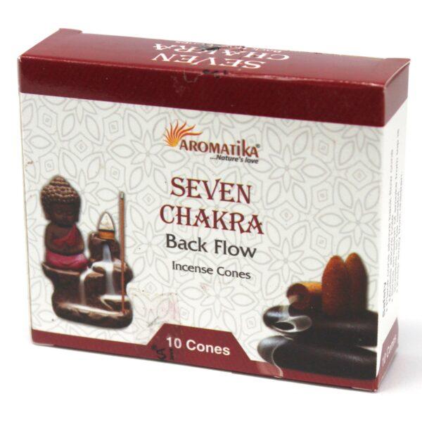 7 Chakra Backflow Cones - Aromatika