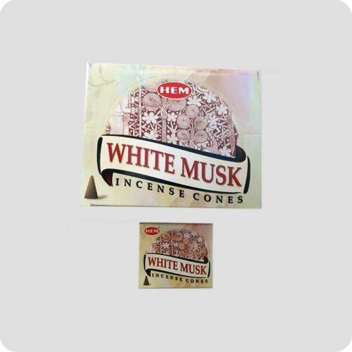 Αρωματικοί Κώνοι HEM White Musk - Λευκός Μόσχος