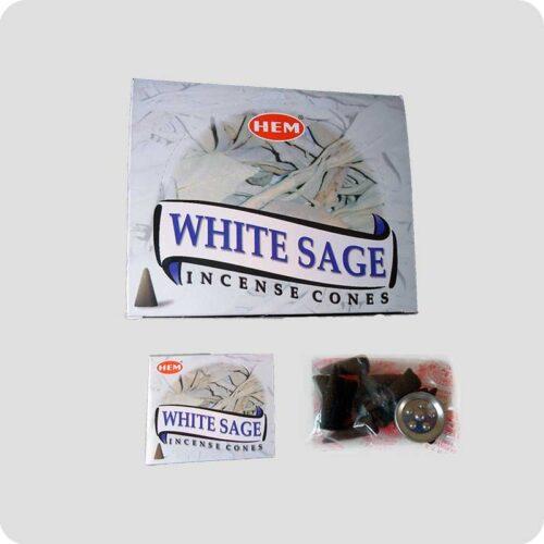 Αρωματικοί Κώνοι HEM White Sage - Λευκό Φασκόμηλο
