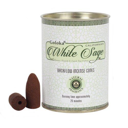 Κώνοι Backflow Goloka White Sage - Λευκό Φασκόμηλο
