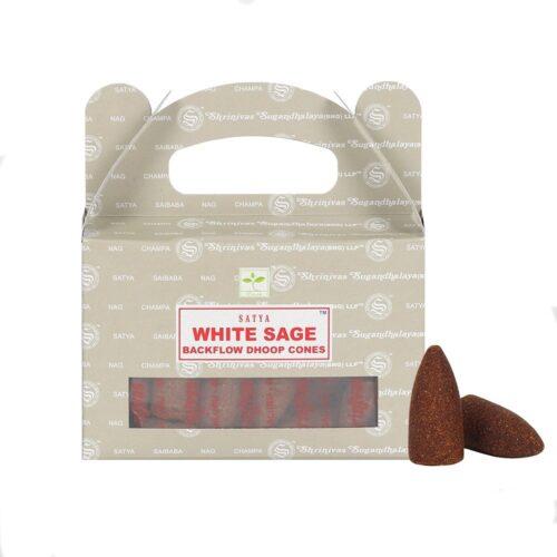 Κώνοι Backflow Satya White Sage - Λευκό Φασκόμηλο