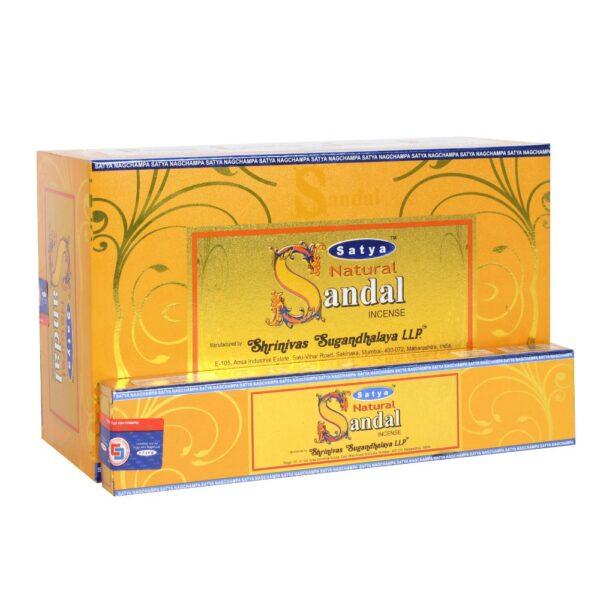 Αρωματικά Στικ Satya Natural Sandal - Σανταλόξυλο 15γρ