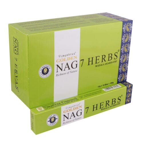 Αρωματικά Στικ Golden Nag 7 Herbs – 7 Βότανα 15γρ
