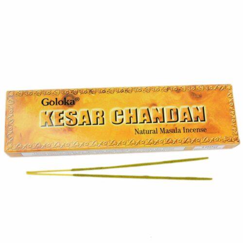Αρωματικά Στικ Goloka Kesar Chandan - Σαφρόν Σανταλόξυλο 100γρ